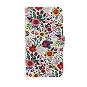 Para Funda Samsung Galaxy Cartera / Soporte de Coche / con Soporte / Flip Funda Cuerpo Entero Funda Flor Cuero Sintético SamsungS5 Mini /