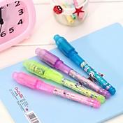 3pcs usynlige håndskrift penner (tilfeldig farge)