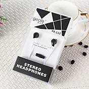 geolis YX-112 de 3,5 mm de alta calidad con cancelación de ruido del micrófono en el auricular del oído para el iPhone y otros teléfonos