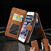Funda Para Apple iPhone 8 iPhone 8 Plus iPhone 6 iPhone 6 Plus Soporte de Coche Cartera con Soporte Flip Funda de Cuerpo Entero Color