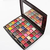 48 Colors Paleta de Sombras de Ojos Brillo Paleta de sombra de ojos Polvo Conjunto Maquillaje de Halloween / Maquillaje de Fiesta