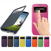 Para Funda Samsung Galaxy con Ventana / Flip Funda Cuerpo Entero Funda Un Color Cuero Sintético Samsung S4 Mini