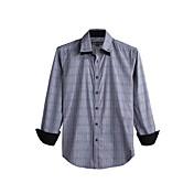 JamesEarl 남성 셔츠 카라 긴 소매 셔츠 & 블라우스 블랙 페이드 - DA112046126