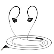 En el oido Auriculares de Gancho Con Cable Auriculares El plastico Conducción Auricular Mini Con Micrófono Auriculares
