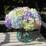 Flores Artificiales 1 Rama Estilo Simple Hortensias Cesta de Flores