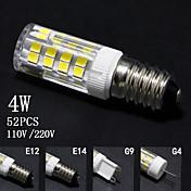 4W E14 / G9 / G4 / E12 LED-kornpærer T 52 SMD 2835 320lm±5% lm Varm hvit / Kjølig hvit Dekorativ AC 220-240 / AC 110-130 V 5 stk.