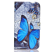 Etui Til Samsung Galaxy Samsung Galaxy Etui Kortholder Lommebok med stativ Flipp Heldekkende etui Sommerfugl PU Leather til J7 J5
