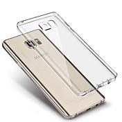 Etui Til Samsung Galaxy Samsung Galaxy S7 Edge Ultratynn Gjennomsiktig Bakdeksel Helfarge TPU til S7 edge S7