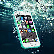 Funda Para Apple iPhone 8 iPhone 8 Plus iPhone 6 iPhone 6 Plus iPhone 7 Plus iPhone 7 Resistente al Agua Transparente Funda de Cuerpo