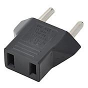 US Plugg Til Europeisk Støpselet Adapter - Svart