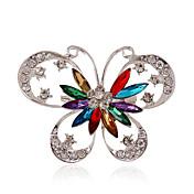 Mujer Personalizado Lujo Joyería Destacada Moda Europeo Piedras preciosas sintéticas Acrílico Brillante Plateado Diamante Sintético