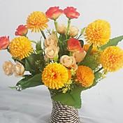 Gren Silke Plastikk Roser Syrin Bordblomst Kunstige blomster 15