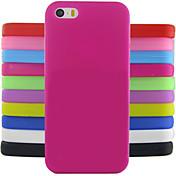 Funda Para iPhone 5 Apple Funda iPhone 5 Antigolpes Funda Trasera Un Color Suave Silicona para iPhone SE / 5s iPhone 5