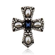 Mujer Cristal Broche - Perla, Cristal, Perla Artificial Cruz Vintage, Europeo, Victoriano Broche Para Fiesta / Diario / Casual / Brillante