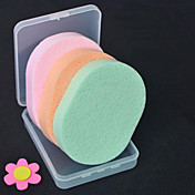 4 PC Almohadilla de Algodón Para el Maquillaje Esponjas naturales Redondo manos Pies Rostro Cuerpo cuello