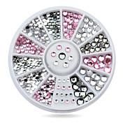 Encantador-Dedo-Joyas de Uñas-Acrílico-1wheel Rhinestone nail decorations-6cm wheel- (cm)