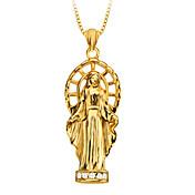 europa la virgen de oro de 18 quilates chapado en joyas especiales cristianos de diseño para las mujeres / hombres p30141 regalo