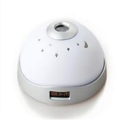 1 stk Natt Lys Mangefarget Batteri Mulighet for demping