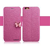 Etui Til Apple iPhone X iPhone 8 iPhone 6 iPhone 6 Plus Kortholder med stativ Flipp Heldekkende etui Glimtende Glitter Hard PU Leather til