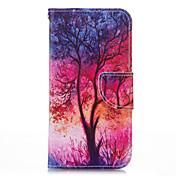 Para Funda Samsung Galaxy Soporte de Coche / Cartera / con Soporte / Flip / Diseños Funda Cuerpo Entero Funda Árbol Cuero Sintético
