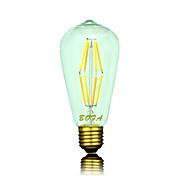 6 W 500-600 lm B22 / E26 / E26 / E27 LED-globepærer ST64 8 LED perler COB Mulighet for demping / Dekorativ Varm hvit 220-240 V / 110-130 V