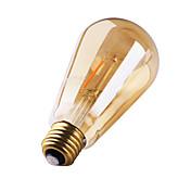 3W E26/E27 Bombillas de Filamento LED ST64 2 leds COB Decorativa Blanco Cálido 180lm 2200K AC 100-240V
