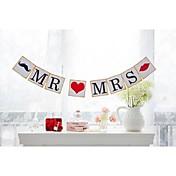 Bryllup / Engasjement / Utdrikningslag Hardt Kortpapir Bryllupsdekorasjoner Strand Tema / Hage Tema / Blomster Tema Vinter Vår Sommer Høst