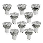 GU10 GU5.3(MR16) LED-spotpærer MR16 Høyeffekts-LED 350-400 lm Varm hvit Kjølig hvit Dimbar AC 220-240 AC 110-130 V 10 stk.