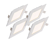 zdm® 4pcs 6w 30 leds empotrados / fácil instalación led luces del panel / led downlights blanco natural / blanco frío / blanco cálido ac85-265v home