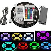 5 m Tiras de Luces RGB 300 LED 5050 SMD RGB Control remoto / Cortable / Conectable 100-240 V / Auto-Adhesivas / Color variable