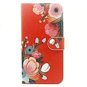 Etui Til Apple Etui iPhone 5 iPhone 6 iPhone 6 Plus Kortholder Lommebok med stativ Heldekkende etui Blomsternål i krystall Hard PU Leather