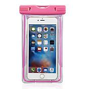 Etui Til iPhone 6s Plus iPhone 6 Plus iPhone-6s iPhone 6 Universell Vanntett med vindu Lomme Helfarge Myk PC til