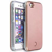Para Funda iPhone 6 Funda iPhone 6 Plus Carcasa Funda LED Cubierta Trasera Funda Un Color Dura Policarbonato paraiPhone 6s Plus iPhone 6