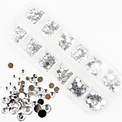 1200PCS AB 컬러 아크릴 다이아몬드 네일 아트 장식 1.5 / 2 / 3 / 4 / 5 / 6mm