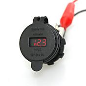 iztoss 2.1a& 2.1a vanntett dobbel usb lader mobiltelefon lader stikkontakt med voltmeter rødt lys