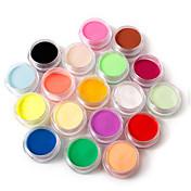 18 pcs Polvo Suelto / Polvo acrílico / Polvo Clásico Nail Art Design / Nail Art Forms Diario