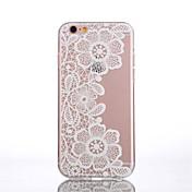 Funda Para Apple iPhone 6 iPhone 6 Plus Transparente Diseños Funda Trasera Impresión de encaje Suave TPU para iPhone 6s Plus iPhone 6s