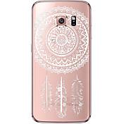 Etui Til Samsung Galaxy Samsung Galaxy S7 Edge Gjennomsiktig Mønster Bakdeksel Drømmefanger Myk TPU til S7 edge S7 S6 edge plus S6 edge S6