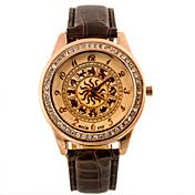 Hombre Reloj de Pulsera Reloj Casual Piel Banda camuflaje / Moda Negro / Blanco / Azul / SSUO 377