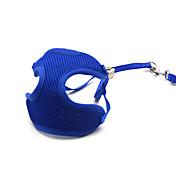Gato Perro Bozales Correas Ajustable / Retractable Transpirable Un Color Malla Azul
