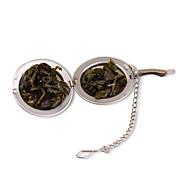 1pc esfera de acero inoxidable de especias bloqueo bola de té colador de malla del filtro colador de té de hierbas con malla bola de