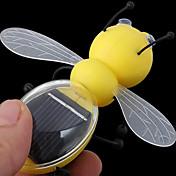 abeja de ahorro de energía con el panel solar de juguete modelo de la energía solar