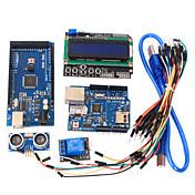 herramientas de aprendizaje Mega 2560 R3 + tablero de Ethernet W5100 + + cable de relé de tablero + HC-SR04 Kit del sensor de Arduino
