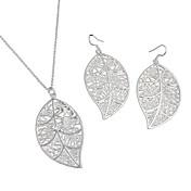 Mujer Plata de ley Conjunto de joyas Pendientes Collare - Casual Moda Collar / pendientes Para Boda Fiesta Diario Casual
