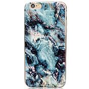 Etui Til Apple iPhone X / iPhone 8 / iPhone 6 Plus Bakdeksel Marmor Myk TPU til iPhone X / iPhone 8 Plus / iPhone 8