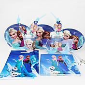 92pcs congelado decoración decoraciones fiesta de cumpleaños de los niños evento fuentes del partido del partido de 12 personas usan