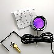 "2 ""(52mm) lcd 7 farge olje temp måler med sensor / auto måler / bil meter"