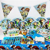 juguete de lujo de la fiesta de cumpleaños historia 78pcs decoraciones niños evnent la decoración del partido fuentes del partido 6