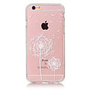 Para Funda iPhone 6 / Funda iPhone 6 Plus Ultrafina / Transparente / Diseños Funda Cubierta Trasera Funda Diente de León Suave TPU Apple