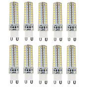 HKV 10pcs 4.5W 350-450 lm G9 LED Bi-pin 조명 T 72 LED가 SMD 2835 밝기조절가능 방수 장식 따뜻한 화이트 차가운 화이트 내추럴 화이트 AC 110-130V AC 220-240V